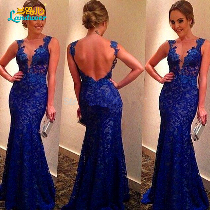 Royal Blue Mermaid Prom Dress Promotion-Shop for Promotional Royal ...