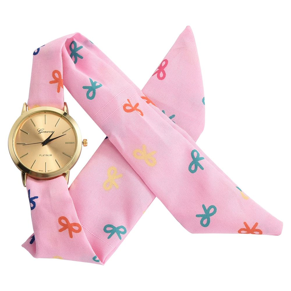 Fashion Women's Wristwatch Casual Cloth Belt Dress Quartz Clock Ladies Creative Bracelet Watch Relogio Feminino Gift Saati(China)