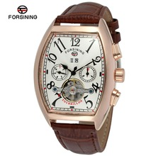 Forsining Date Month Display Tourbillon Wrap  Mens Watches Top Brand Luxury Automatic Watch Montre Homme Clock Men Casual Watch