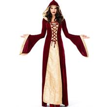 2018 Deluxe Womens Royal Court Queen Costume Halloween Carnival Adult Cosplay Clothing