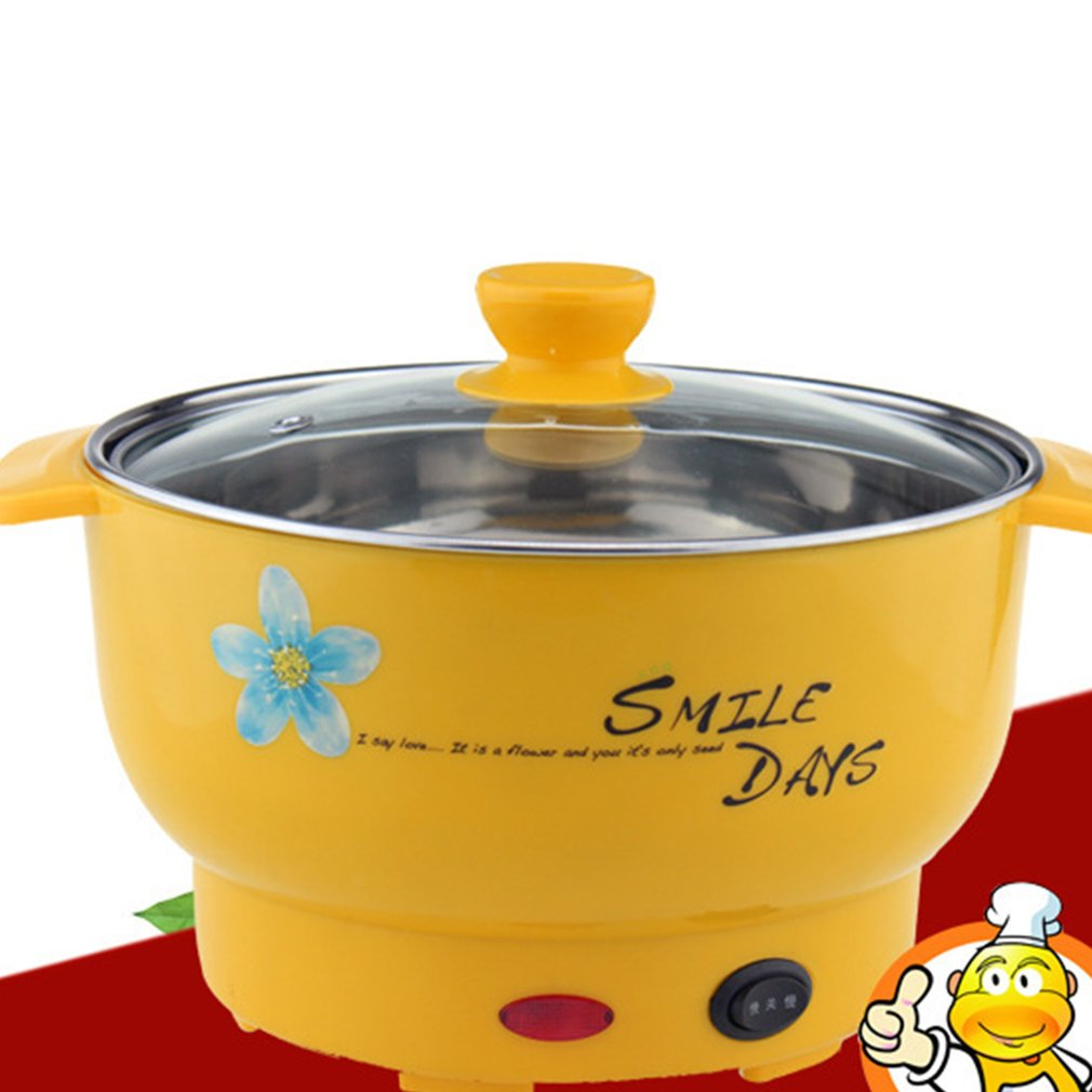 Multifunction Stainless Steel Electric Cooker with Steamer Hot Pot Noodles Pots Rice Cooker Steamed Eggs Pan Soup Pots 12.8