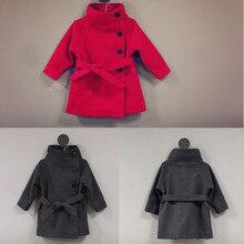 Длинная Куртка для девочек; детское однотонное пальто с капюшоном; детская верхняя одежда на весну-осень; Детское пальто; Одежда для девочек; цвет красный, фиолетовый, серый