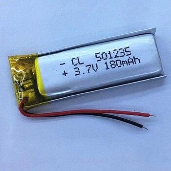 Nueva batería recargable de polímero de litio li-po li-ion 3,7 V 180mAh 501235 para Mp3 MP4 MP5 GPS PSP Cámara bluetooth móvil