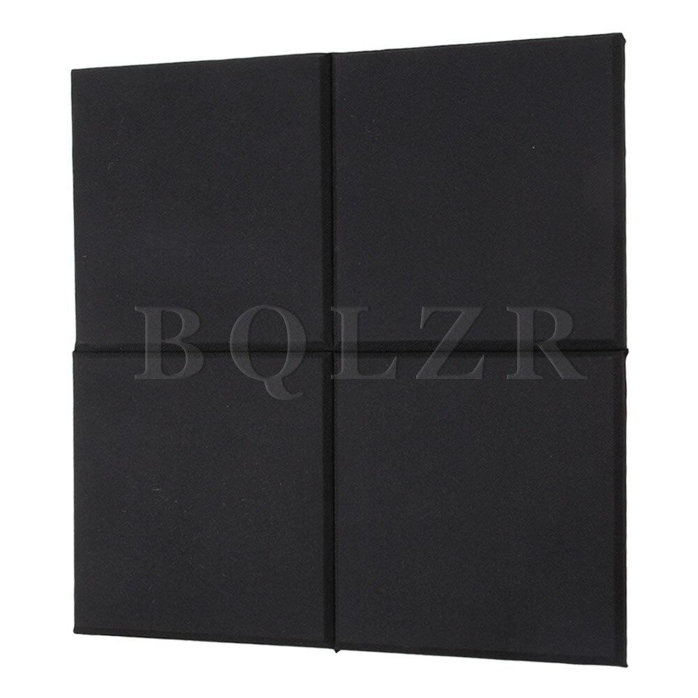 BQLZR 112 x Black 30x30x2.5cm Home Studio Acoustic Sound Absorbing Panel 2pieces diy bqlzr 9 1cmx10 7x4 9cm black plastic left