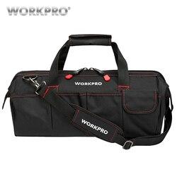 WORKPRO حقائب السفر مقاوم للماء الرجال حقيبة كروسبودي حقيبة أدوات حقيبة سعة كبيرة للأدوات الأجهزة شحن مجاني