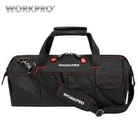 WORKPRO Waterdichte Reistassen Mannen Crossbody Bag Tool Tassen Grote Capaciteit Tas voor Gereedschap Hardware Gratis Verzending