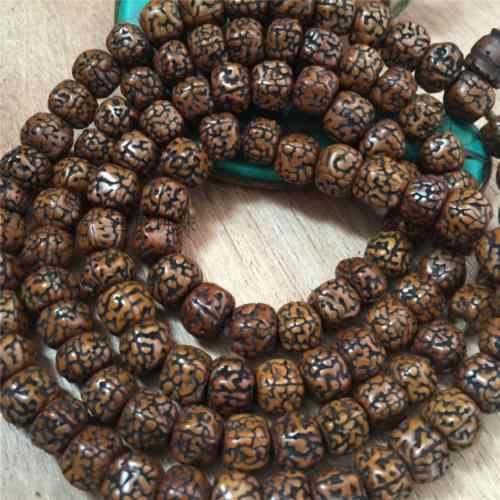 8 мм Тибетский буддизм 108 старые семена рудракши четки Мала ожерелье