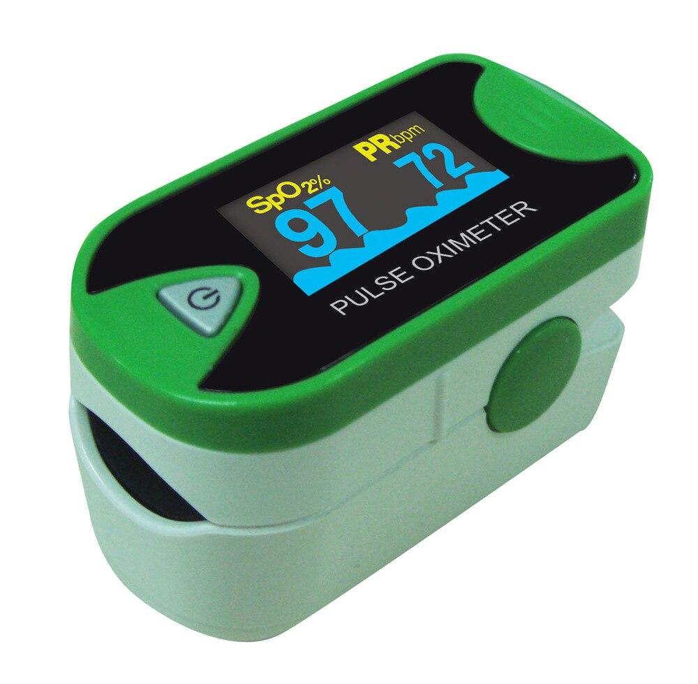 24pcs Health Care Choicemmed LED Green Finger Pulse Oximeter Blood Oxygen SpO2 Saturation Oximetro Monitor MD300C26