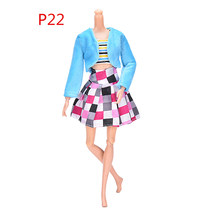 "TOYZHIJIA 3 stks/set Mode Handgemaakte Slanke ClothesSuit Voor Barbie 11 ""DollsAccessories Poppen Bontkraag Jas Meisje Pop Jurk(China)"