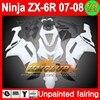 Body Unpainted Full Fairing Kit For KAWASAKI NINJA ZX 6R 07 08 ZX6R ZX 6R 6