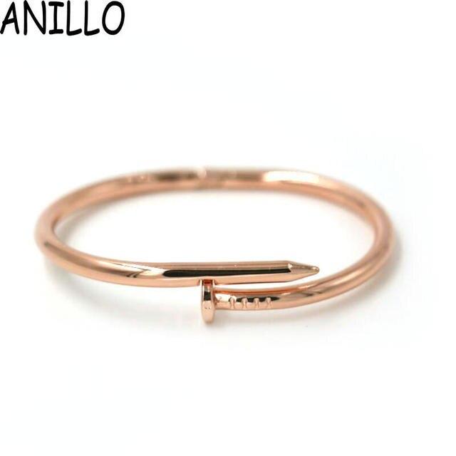 Anillo нерегулярные золотой цвет браслеты pulseiras pulseira feminina винт из нержавеющей стали браслет женщин 4 цвет ювелирные изделия pulsera