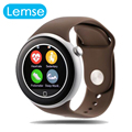 Новая Мода C1 Мониторинга Сердечного ритма Круглый Сенсорный Экран Bluetooth Smart Watch Для IOS Android Phone