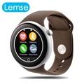 Nueva moda c1 de control del ritmo cardíaco ronda pantalla táctil bluetooth smart watch para ios android teléfono