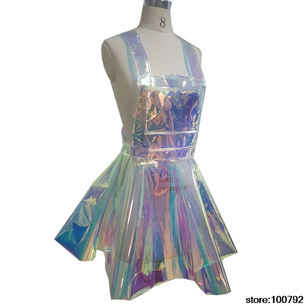Clear Plastic Pvc Vinyl Shift Dress With Zipper By Acetito