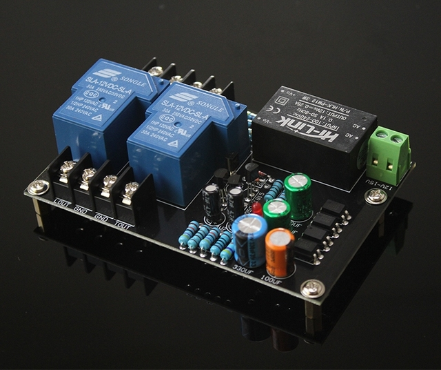 AC 85 ~ 265V רמקול הגנת לוח 30A ממסר מתח גבוה עבור מקסימום 900W מגבר לוח