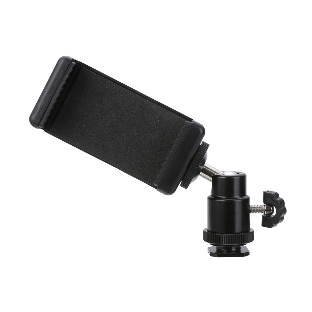 Mayitr Hot Shoe Adapter Ball Head With Lock + Phone Clip Bracket Holder Mount for DSLR Camera Cell Phone