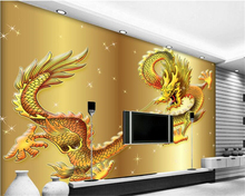 beibehang Wallpapers are very brilliant fashion winds and dragons spirit of the great rainbow TV background wall papel de parede