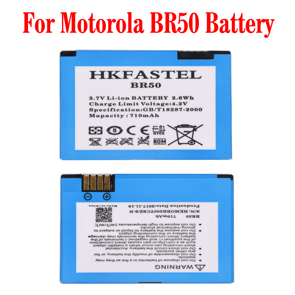 HKFASTEL Nouveau BR50 BR 50 Mobile téléphone batterie Pour Motorola RAZR V3 V3c V3E V3m V3T V3Z V3i V3IM PEBL U6 Prolife 300 500 Batteries