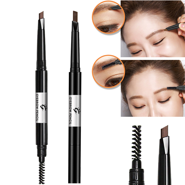 Eyebrow Pencil With Brow Brushwaterproof Eyebrow Makeup Tool Dark