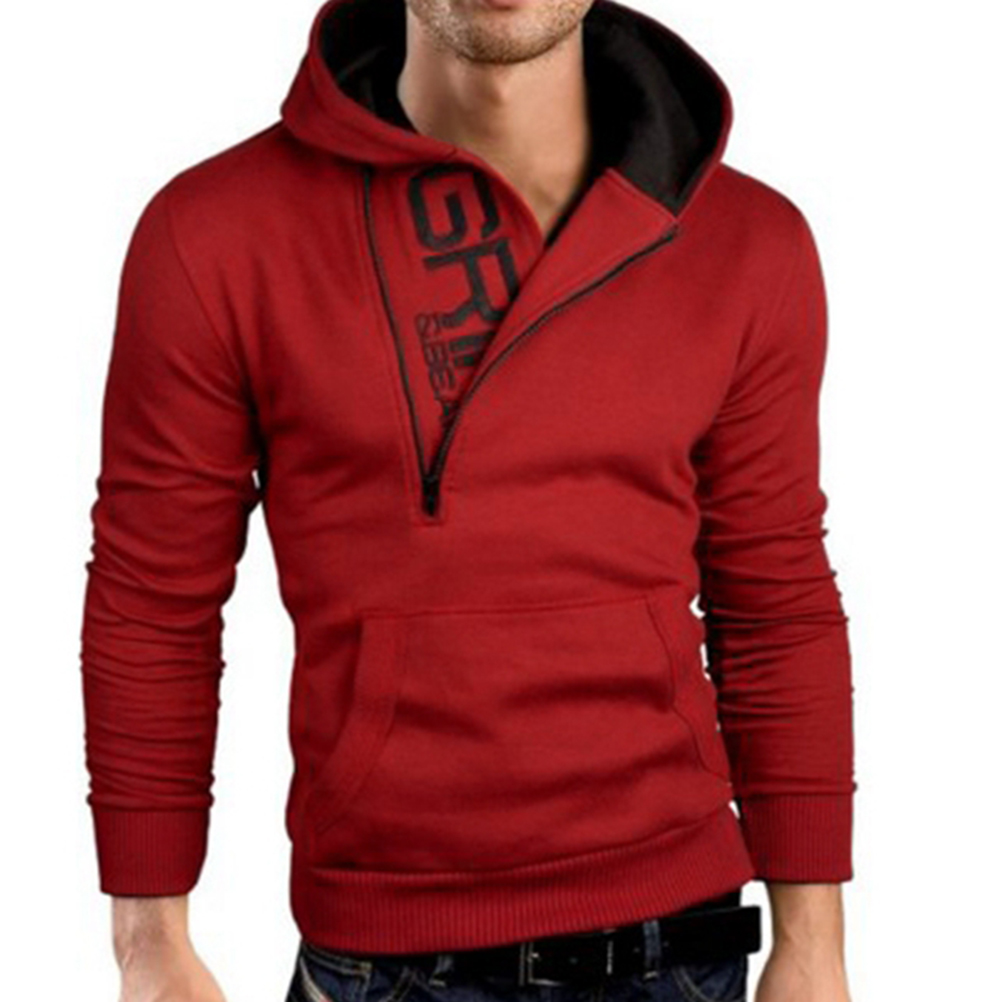 1pcs Men Fashion Tracksuit Brand men Hoodie Popular Oblique Zipper ...