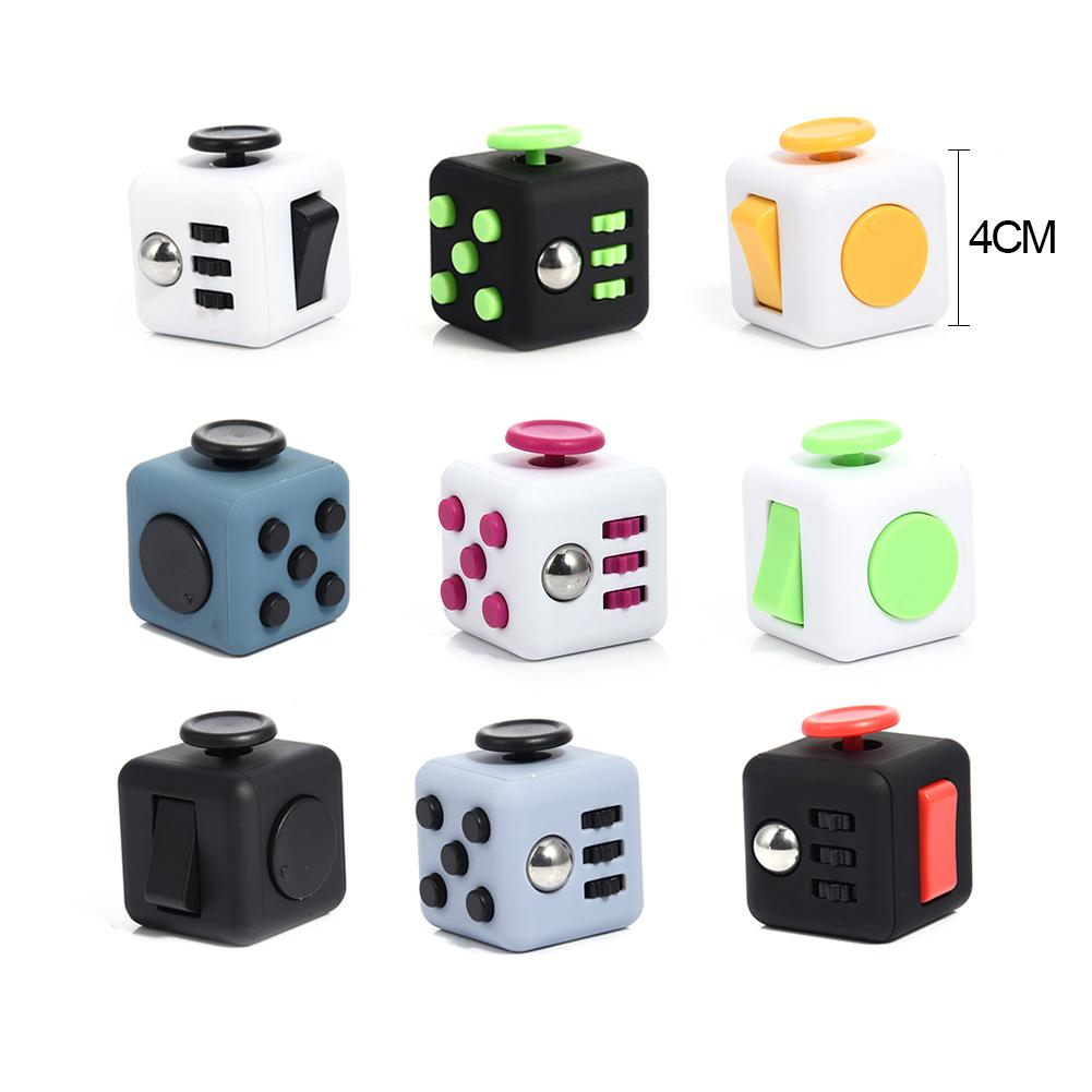 Vinyl Dice Toys Funny Colorful Decompression Stress Reliever Black And White Magic Cube Toys