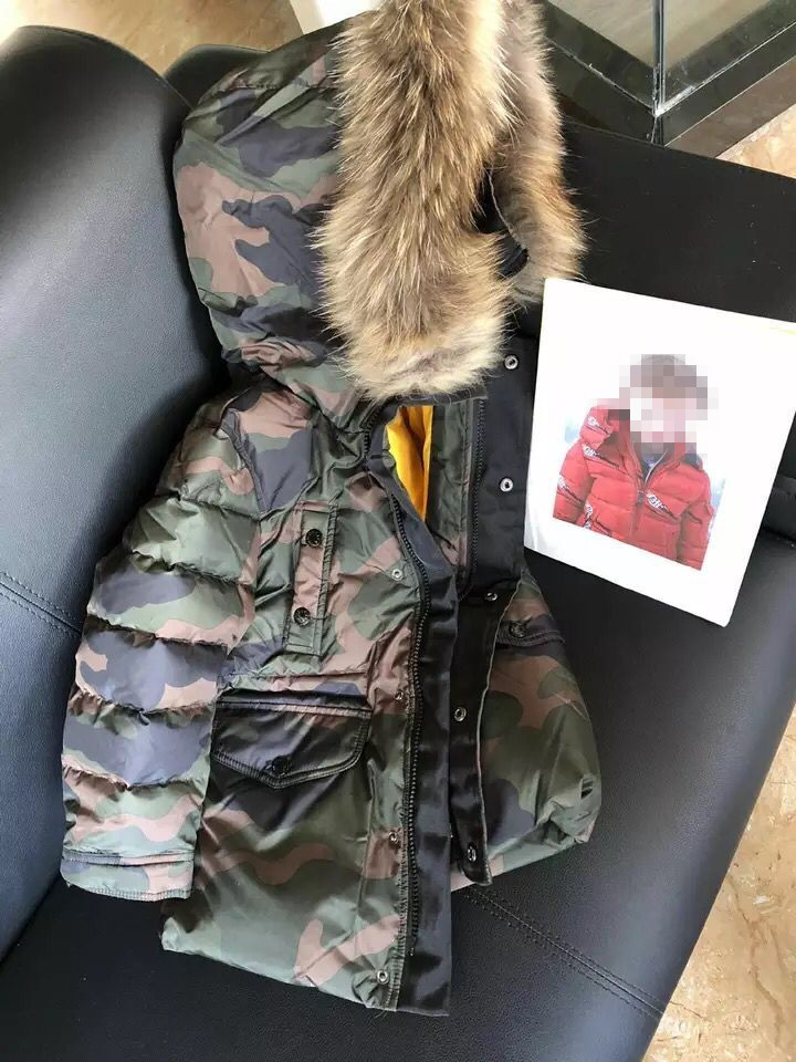 цена на in stock brand new Winter Jacket Kids Boys 2018 New Thicken Warm Hooded Down Padded Coat Camouflage Camo Down Outerwear Coats