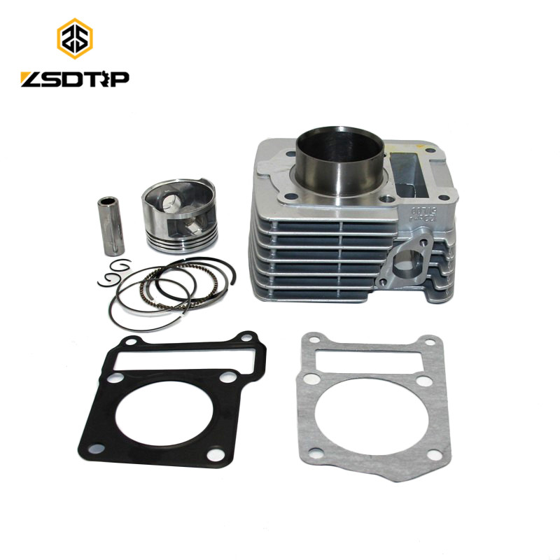 57.4mm Big Bore Cylinder Barrel Piston Kit with ring case for Yamaha YBR125 Upgrade 100% New good quality cylider bore 45mm 52cc 5200 chinese gasoline chainsaw cylinder piston kit with muffler