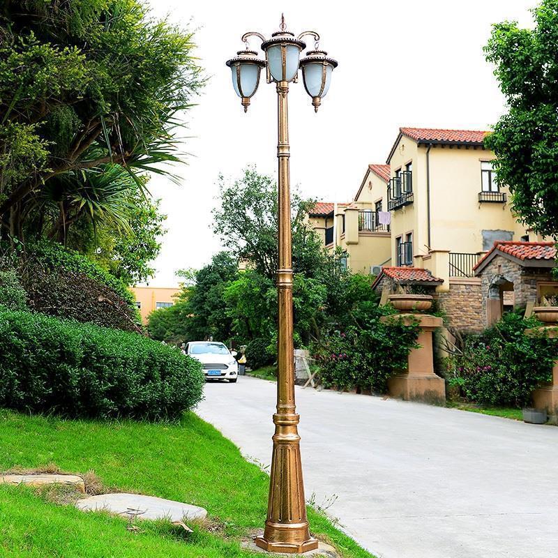 Image 5 - De Rue Lamba Sokak Lambasi Farola Lampioni Da Esterno Home Jalan Lampadaire LED Off Road Decor Uliczna Plaza Street Light-in Street Lights from Lights & Lighting