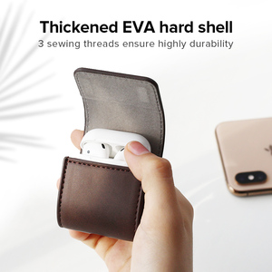 Image 2 - Ugreen Case For AirPods 2 1 Case Leather Earphones Accessories Anti lost Rope Protective Headphone Cover For Apple Air Pods Case