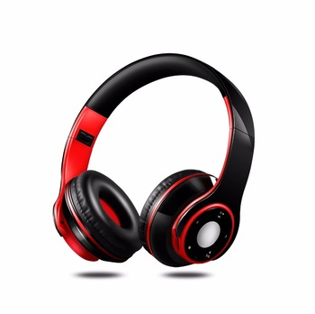 Free Shipping Colorful Stereo Audio Mp3 Bluetooth Headset Wireless Headphones Earphone Support SD Card with Mic Play 20 Hours 2