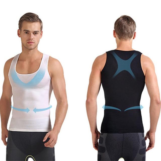 728ebb3374b16 Shapewear for men slimming underwear waist control belly fat burner abdomen  compression leotard body slim shaper bodysuit