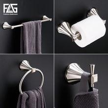 Flg наборы оборудования для ванной комнаты никель Матовый цинковый