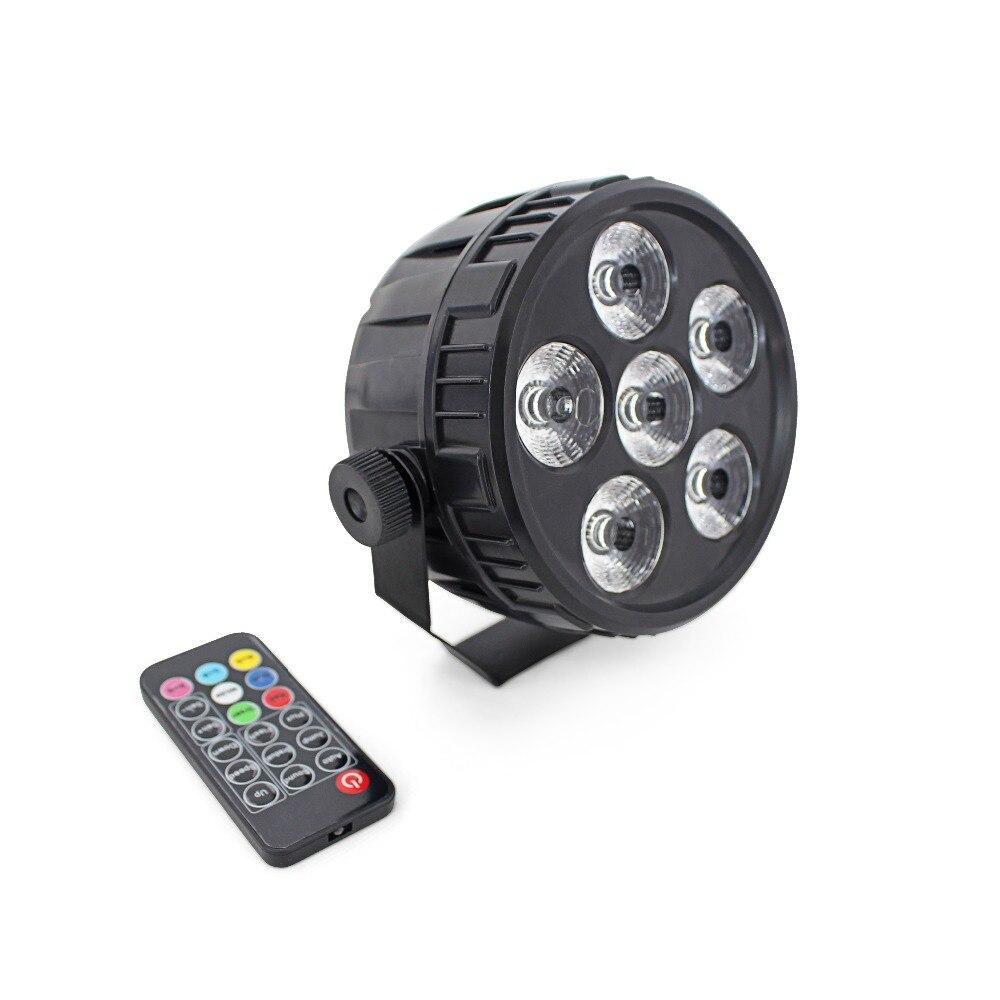 Livraison gratuite LED par lumière 6X4 W RGBW 4 en 1 par peut DMX512 éclairage de scène à distance maison boîte de nuit disco DJ projecteur machine