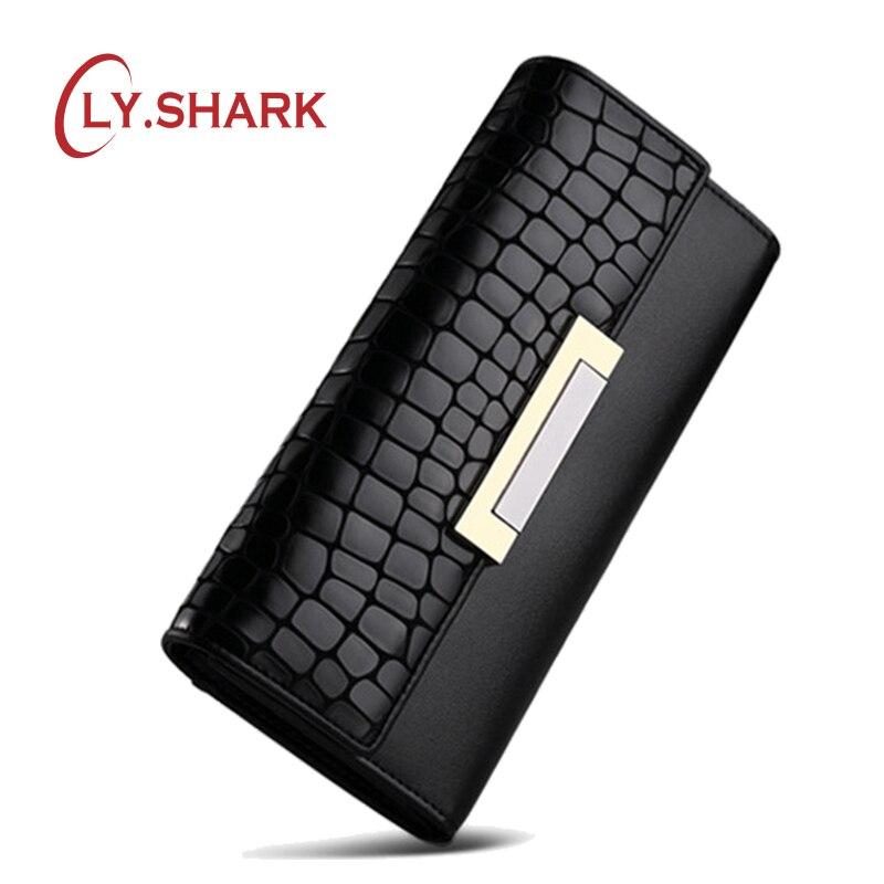 LY. акула Для женщин кошельки женский длинный клатч кошелек держатель для карт Обложка для паспорта Для женщин портмоне Элитный бренд удобны…