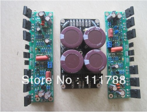 Assembled L150W FET Power Amplifier Board + Power Supply Board (2+1) assembled tas5630 2 1 digital amplifier board 300w 150w 150w