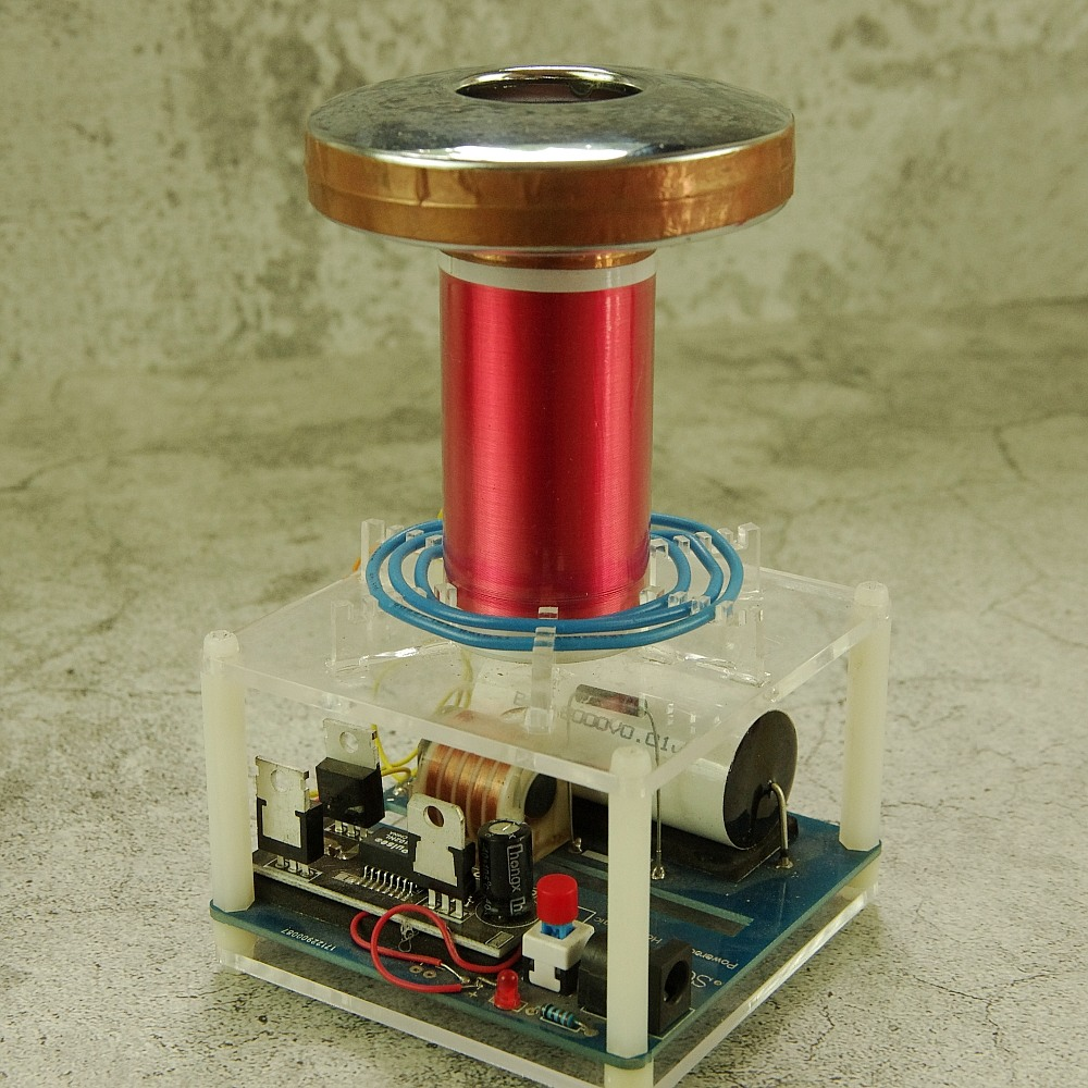 Micro bobine tesla SGTC étincelle écart bobine tesla bricolage Kits science physique jouet