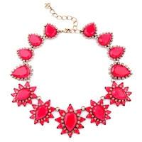Nouveau Design Vintage Mode Bijoux Rouge et Jaune Goutte D'eau Collier Collier Ras Du Cou Pour Femmes Charme Bijoux en gros