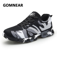 GOMNEAR Military Camouflage Men Running Shoes Sports Running Sneakers For Men Trainer Comfortable Athletic Shoes Sneakers Men