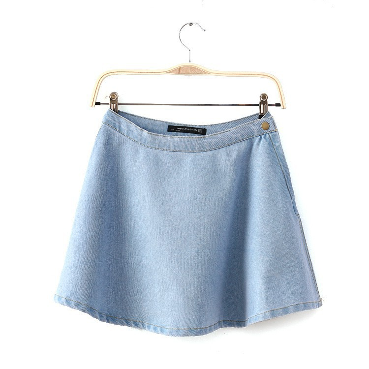 Aliexpress.com : Buy Women Vintage High Waist Jeans skirt Pleated ...