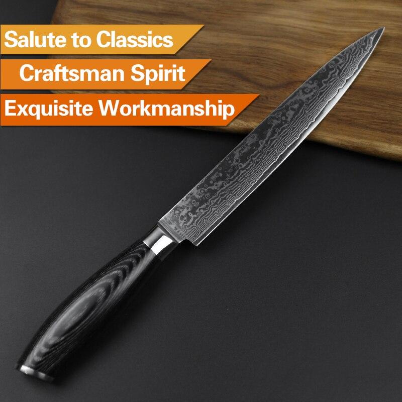 XINZUO 5 piezas conjunto de cuchillos de cocina 67 capa japonés VG10 ... 73d49c13a9e9