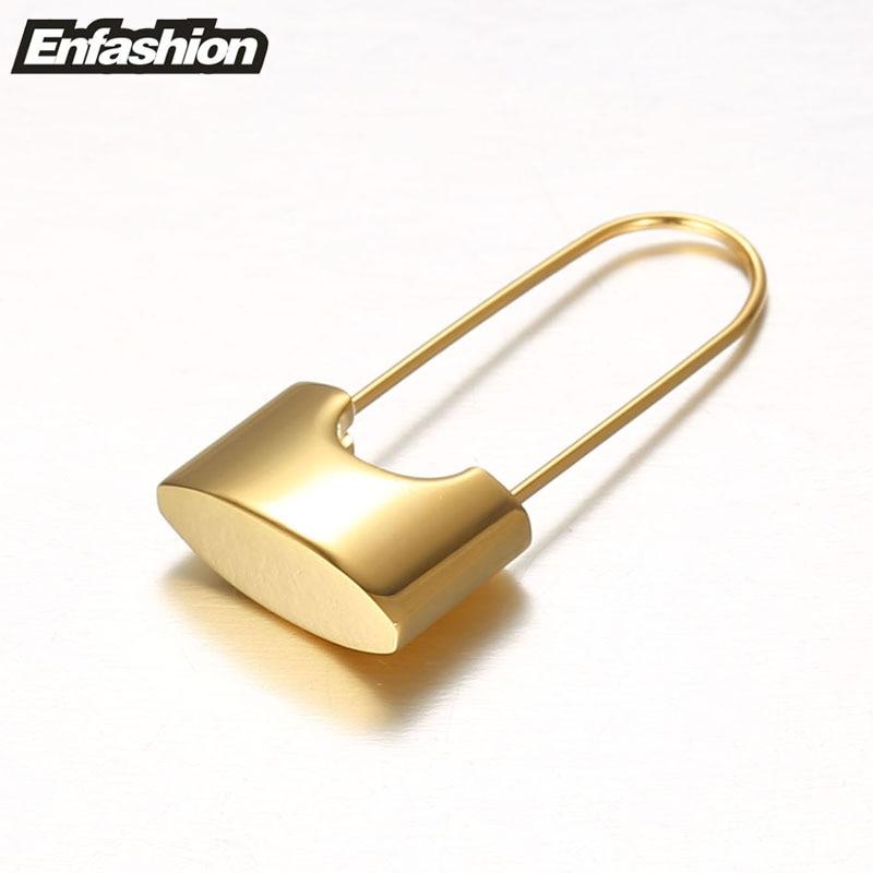 Aliexpress Enfashion Whole Lock Earrings Dangle Earring Rose Gold Color Earings Stainless Steel Drop For Women Jewelry Brinco From