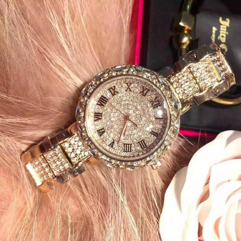Famous Brand Full Diamond Luxury Women Watch Lady Dress Watch Rhinestone Bling Crystal Bangle Watches Female