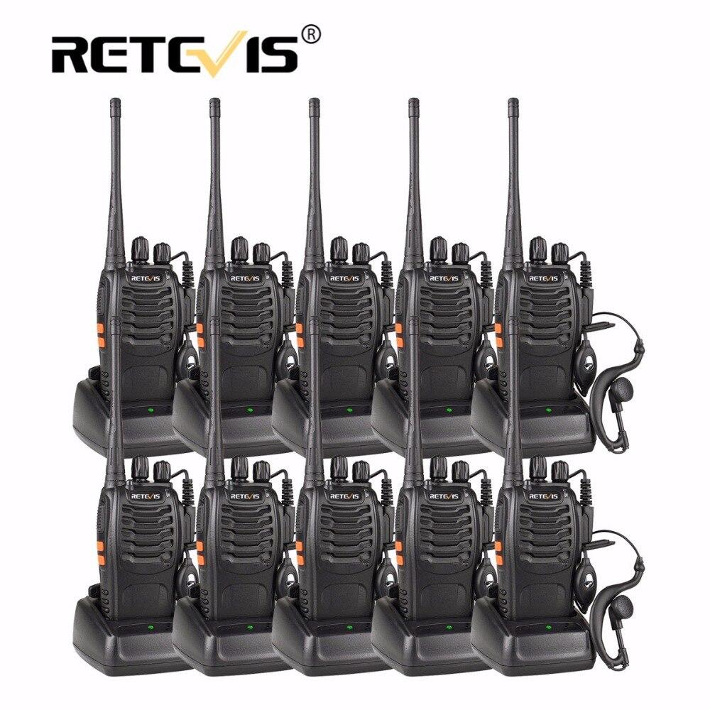 10 pz Economici Set di Walkie Talkie Retevis H777 16CH UHF Torcia cb Stazione Radio Transceiver Hf 10 pz Walkie Talkie e auricolare