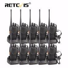 10 unids Barato 16CH Walkie Talkie Retevis H777 UHF PTT Linterna cb Radio de Dos Vías Portable 10 unids Comunicación equipo