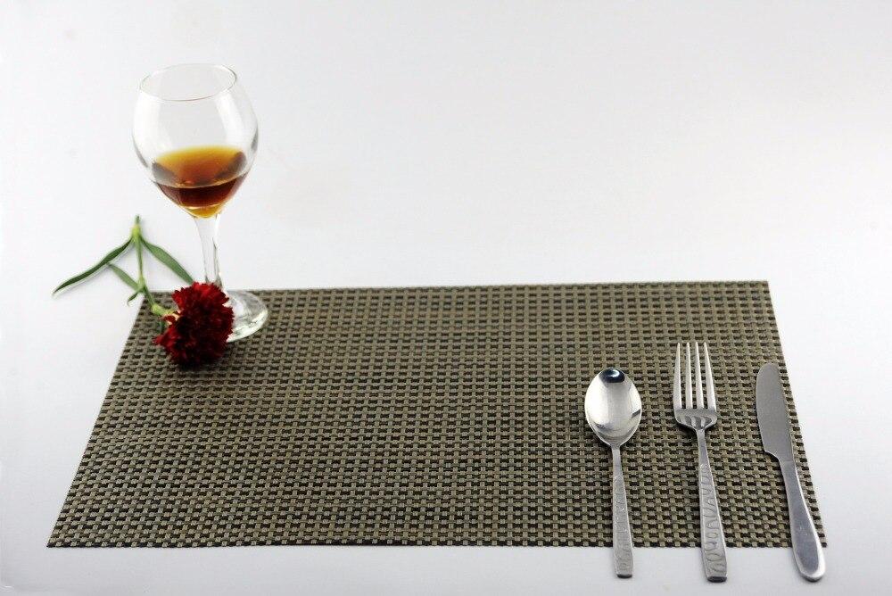 4 PCS/Lot PVC Placemats Dining Tables Place Mats Pad Tableware Utensil Restaurant Table Cloth Pad Slip-Resistant Pad JI 0804