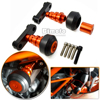 FS KT003 OR New Motorcycle Aluminum Orange Motorbike Left And Right Frame Slider Anti Crash Protector