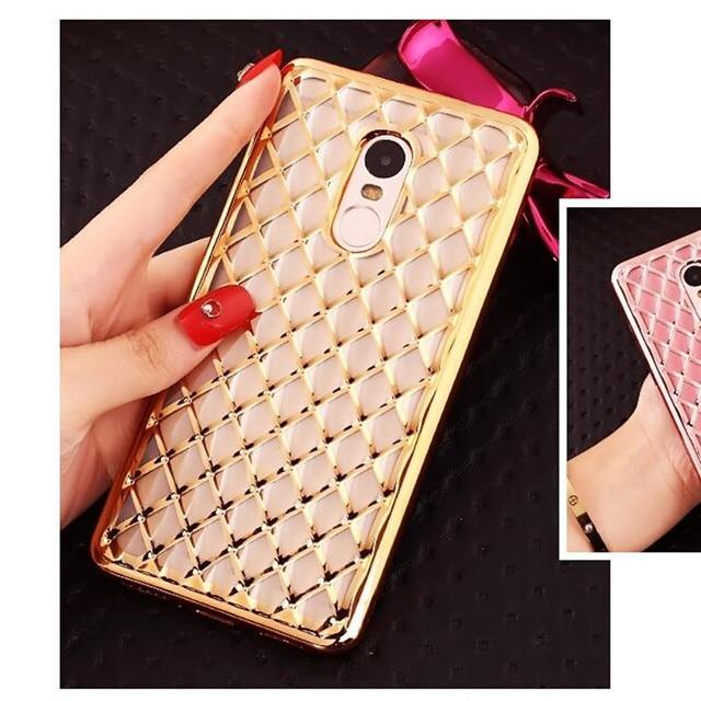 brand new f51d4 47394 US $1.79  For Xiaomi redmi note 4 Case Luxury Plating lattice TPU case  cover For Redmi Note 4 Pro Case redmi note4 Back Cover on Aliexpress.com    ...