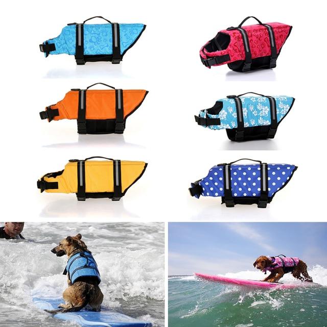 Zapisać Pływać Kamizelka Bezpieczeństwa dla psów Ubrania Lato Kamizelka Wygaszacz Pet Puppy Pływanie Wodoodporna Duży Pies Ubrania Stroje Kąpielowe 39