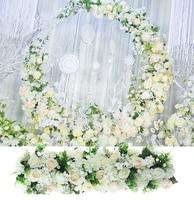 Wedding Pavillion rose artifical Flowers strips White Wedding canopy flower decoration Event Props 3M x 30cm