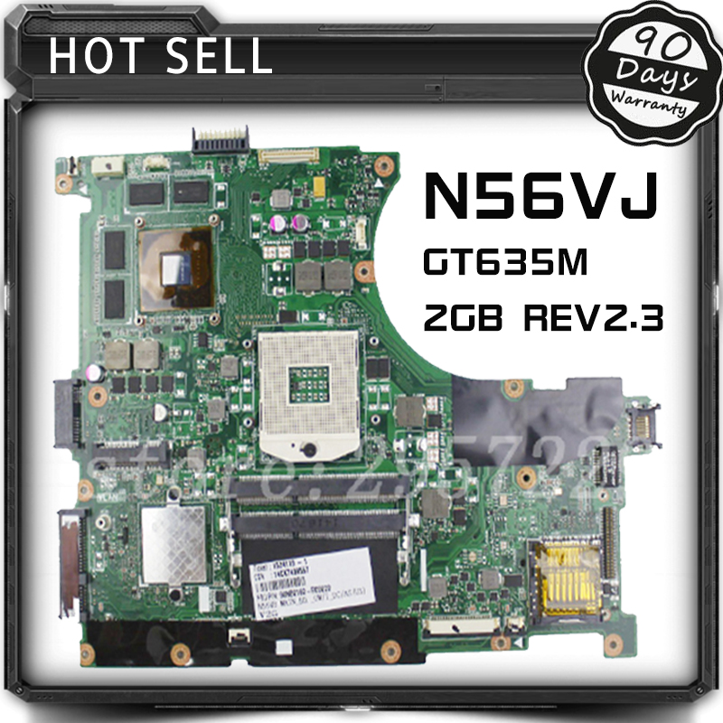 suitable N56VM N56VJ N56VZ N56VB N56V Rev 2.3 laptop motherboard non-integrated GT635M 2GB system motherboard n56vm rev 2 3 laptop motherboard suitable for asus n56vm n56vj n56vz gt630m hm76 system motherboard original new